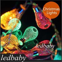 Wholesale new year luminaria christmas lights garland string lights AA battery bulb garland light luminarias home decoration