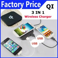 wireless usb hub - 3 In Qi Standard Wireless Charger USB HUB for Nokia Samsung Note S6 Apple iphone s s plus New arrival