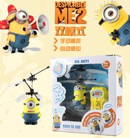 toy rc aircraft - Mini RC Helicopter Despicable Me Sensor Flying Minion Shatter Resistant Remote Control Aircraft Ch RC Helicoptero Kids Toys