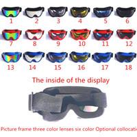Wholesale Cross country motorcycle helmet dustproof prevent goggles Wind ski glasses Dustproof goggles