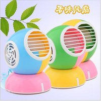 Wholesale Mini air conditioner bladeless fan Cartoon little yellow USB aroma air conditioning fan