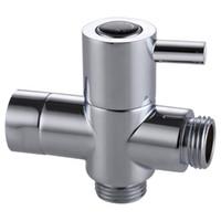 Wholesale Solid brass Way Shower Arm Diverter Valve for Handshower Universal Showering Components Polished Chrome