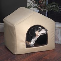 Wholesale Fabric Dog House and Sofa Combination Pet Bed for Small Dogs with Plush Mat