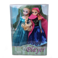Wholesale 2014 fashion kids toys baby frozen dolls action figures Elsa Anna dolls toddler toys via EMS