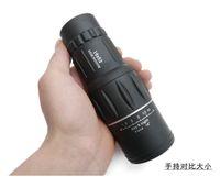Cheap Wholesale-Free Shipping 2015 Dual Focus 16X52 Monocular Telescope,16x Zoom binoculars ,66M 8000M,HD night vision spotting Scope