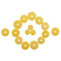 Wholesale 16pcs Music Size Flute Woodwind Close Pads Replacement Repair Yellow Musical Instrument High quality pad