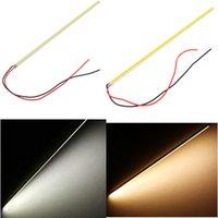 Wholesale Ultra thin W LED COB Chip Led Driving DRL Daytime Running Light Lamp Bar Strip cm Auto Car lighting Aluminum V DIY Lamp