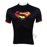 anti reflective - Superman Mens Black cycling jersey Biking Shirt Rider Sportswear Bicycle clothing S XL cycling short sleeves clothes