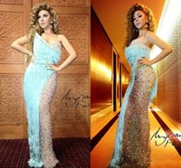 beaded tassles - 2015 Sexy Myriam Fares Celebrity Dresses Sweetheart Tassles Pearls Beads Floor Length Party Evening Dresses Formal Dresses Real Pictures
