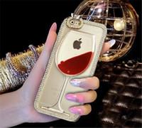 aquarium covers - For iphone s plus D Red Wine Aquarium Case Wine Cup Liquid Transparent Hard Case Cover