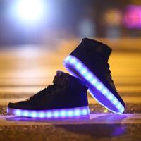 Cheap Lace-Up LED shoes Best Unisex Plastic USB light up shoes