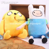 animal adventure plush - Anime Adventure Time Finn Jake Plush Dolls Soft Stuffed Animal Dolls Movice Cartoon Toy set ANPT322