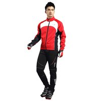 Wholesale SANTIC Mens Long Cycling Pants Winter Fleece Thermal Coat Jacket Bike Bicycle Pants Trousers Windproof Cycle Clothes Clothing