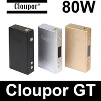 Wholesale Cloupor GT W box mod Original Authentic cloupor gt w temperature control vape tc box mod vs mechanical mods rda atomizers vapor