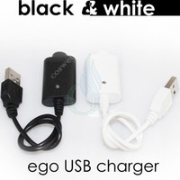 white charger batteries usb charger - Electronic cigarettes Charger USB ego Charge with IC protect ego T mod evod vision mini e cig cigarette vapor mods Battery charger DHL