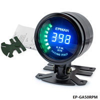 Wholesale TANSKY New Epman Racing quot mm Smoked Digital Color Analog RPM Tacho Tachometer Gauge Meter with bracket EP GA50rpm