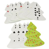 Wholesale Novelty Christmas Tree Sheet Paper Nonstandard Size Playing Cards Special Poker Game Collect Entertainment Play Gift Toys