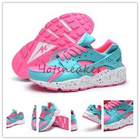 Wholesale New With Box Colorways Air Huarache Sneaker Run Women s Running Shoes Medium Turquoise Real Pink