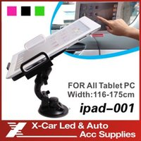 Wholesale Universal inch Holder Car Degree Rotation for iPad Samsung Galaxy Tablet PC Stand Holder Direct Shipping