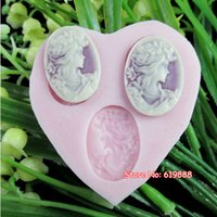 avatar form - Q034 Side Avatar Shape Soap Moulds Silicone Molds Form For The Cake Baking Pastry Tools
