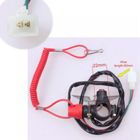 Wholesale BRAND NEW DOUBLE KILL SWITCH SAFETY WIRE WITH ROPE KID ATV DIRT BIKE SCOOTER