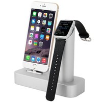 apple base stations - Aluminum Metal Displaying Stand Holder Charging Dock Charger Station Mount Base for Apple Watch iPhone s Phone Case Gift