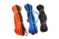 atv winch - 8mm meter lbs UHMWPE Braid Synthetic Winch Rope with S S Thimble for ATV UTV SUV X4 WD