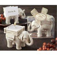 Wholesale FG1511 NEW ELEPHANT TEA LIGHT CANDLE HOLDER IVORY CERAMIC BRIDAL WEDDING HOME DECOR