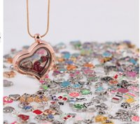 assorted glass pendants - 100pcs mixed Designs Assorted Floating Charm For Glass Locket Origami Owl Floating Charm Pendant Jewelry Accessories Cheap Price