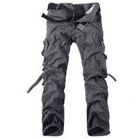 Wholesale New Tactical Pants Fashion Men Pants Cotton Mens Cargo Pants Army Training Military Outdoor Pants Plus Size