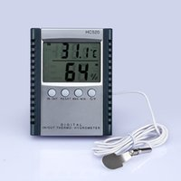 Wholesale Digital Thermometer Hygrometer Temperature Humidity Meter for indoor outdoor LCD display HC520 in retail package