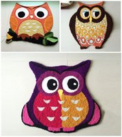 Wholesale Handmade animal Owl rug machine washable rugs Floor mat Carpet to room tapis alfombras cm