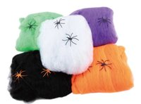 Wholesale Hot Sale Stretchable SPIDER WEB Decoration For Halloween Props Bar Home Decoration Colors