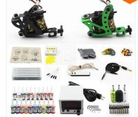 Wholesale Complete Tattoo Kit Machine Guns Inks Needles Power Supply Grip Tip K2