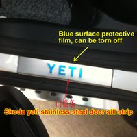 Wholesale Skoda Yeti scuff plates stainless steel door sill strip welcome pedal auto accessories