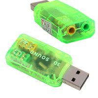 Wholesale New External USB to D Virtual Audio USB sound card computer sound card Adapter Converter L0192430