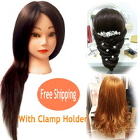 Wholesale 2015 New Arrival Professional Hairdressing Training Mannequin Heads with Real Quality Hair Can be Curled