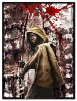 abstract fabric prints - The Walking Dead Season Art Silk Fabric Poster Print x32 quot