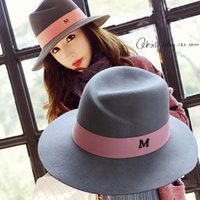 Wholesale Choke a small pepper M Ms wool hat and letters high quality black British major suit hat