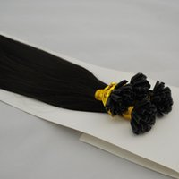Wholesale straight keratin U tip nail hair extensions black brown all colors available custom made quot