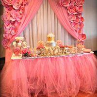Wholesale 100CM Long Organza DIY Table Wear Wrapper Tutu Design Tables Yarn Skirts Bridal Carnival Prom Supplies wd752
