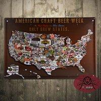 beer week - A American craft beer week metal poster Wall Design Stickers