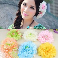 beach wedding bridesmaid gifts - Many Colors Beach Summer Wedding Accessories Bridal Bridesmaids Headpieces Hair Flowers Romantic Tiered Tiaras Flowers Cheap Girl Gift WWL