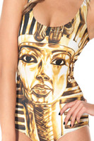 Wholesale Golden Egyptian pharaoh Print One Piece Swimsuit New Fashion Casual Bodysuit Sale Slim Swimwear Brand Swimming Suit for Women