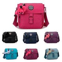 nylon waterproof zipper - JINQIAOER New Women Shoulder Bag Summer Style Nylon Waterproof Flap Zipper Pockets Velco Closure Solid Crossbody Bag for Travel B0092