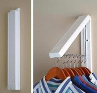 folding clothes rack - Fashion Indoor Wall Hanger Creative Bathroom Invisible Folding Hanger Multipurpose Bedroom Drying Coat Rack