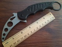 Cheap Real picture G10 handle Fox Claw Karambit Training Folding knife Outdoor gear EDC Pocket Knife camping knives cutting tool 232X