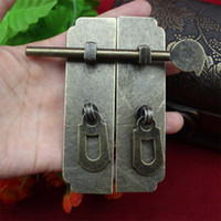 antique door latches - 5PCS cabinet hardware Home Improvement Hardware Cabinet Box buckle clasp antique door latch buckle clasp buckle strip box door lock