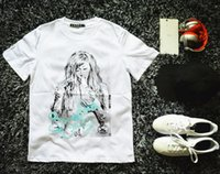 Cheap 2015 New 3D Fashion short sleeve T-shirt long hair naked girl smoking Design print men t shirt tops free shipping