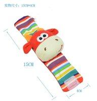 Wholesale Baby Rattle Toys Garden Bug Wrist Rattle and Foot Socks Foot Socks Bug Wrist Strap set